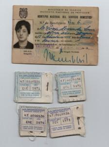 Cartilla del servicio domestico de los años 1961-1974