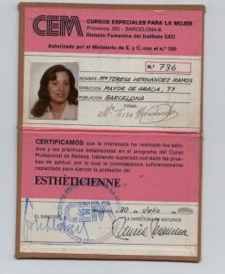 Carnet de Esthèticienne de Barcelona