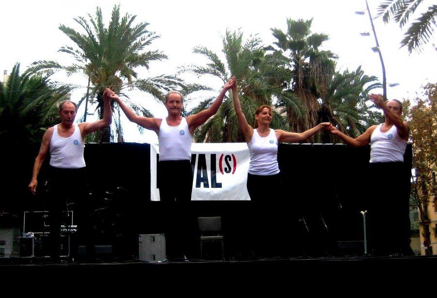 Testimoni de la continuïtat del Conjunt de gimnàstica ornamental del CGB a través dels membres del CGRB. Participació a la Festa Cultural del Raval del mes de Novembre de 2012.