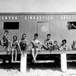 Caseta de Banys de Badalona del CGB instalada a la platja per activitats socio culturals.