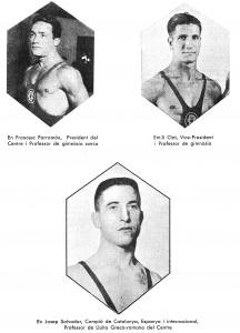 Primers Professors de gimnàstica del Barcelonès anys 30s.