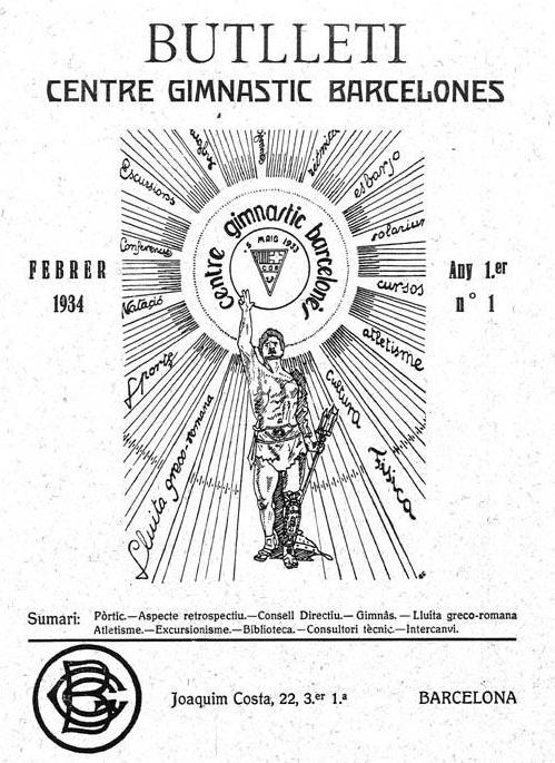 Primer Butlleti editat pel Centre que serviria per la comunicació esportiva i socia del CGB.