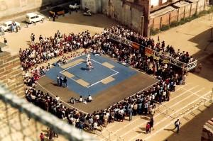 Combat d'exhibició de lluita greco romana al Festival del 50è
