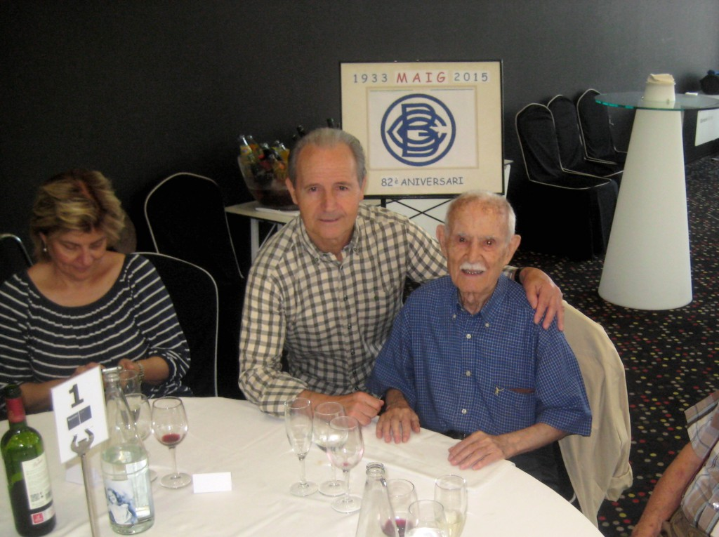 82è Aniversari del Centre Gimnàstic Barcelonès al prestigiós Hotel de Barceló Sants a Barcelona dels antics socis del Centre amb una assistència de 40 persones, després de la primera trobada al 75è Aniversari a l'any 2008.