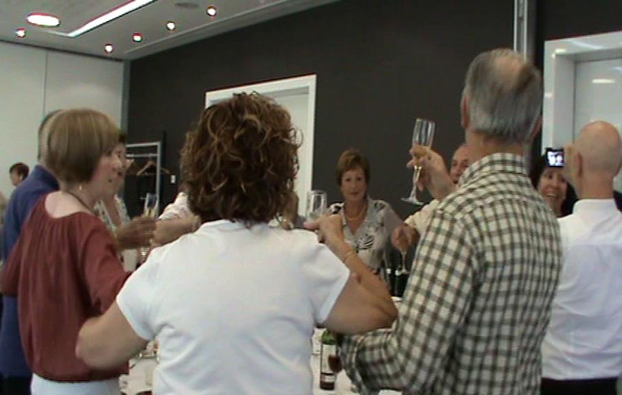 Un altre moment del brindis durant la festa del CGB a l'Hotel Barceló Sants festejant el 82è Aniversari de la Fundació del Club.