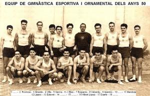 José García Villarroya gran gimnasta en la modalitat esportiva dels anys 1950's que va competir amb l'inoblidable Joaquim Blume.