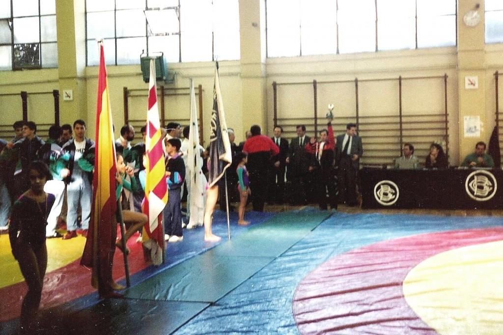 Proves de Selecció als Jocs Olímpics de Barcelona del 1992 de la Secció de Gimnàstica artística femenina i masculina a les Instal·lacions de Can Ricart organitzat pel Centre Gimnàstic Barcelonès.