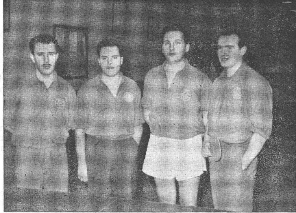 La secció de Tennis de taula del CGB, es va iniciar als anys 50's, i ja va tenir una participació molt significativa durant tota aquesta dècada. Any darrera any es va arribar a disposar de molts socis dedicats al Ping Pong. Alguns jugadors notables ja havien assolit la Segona Categoria com els:  Arasa, Augé, Arazo i Estruch,