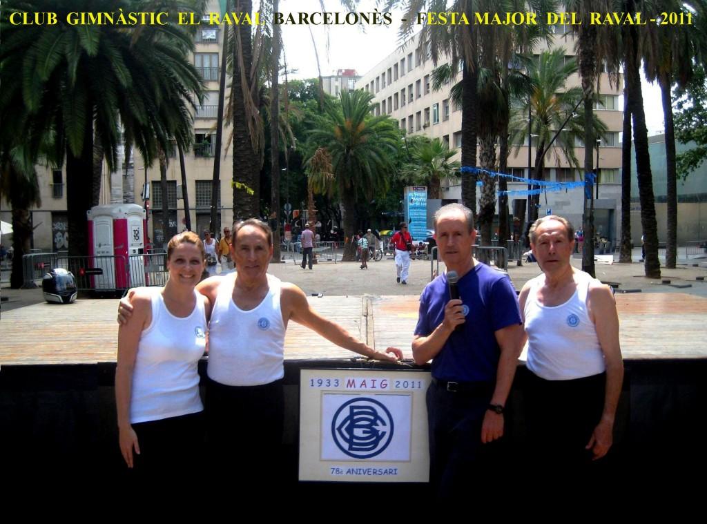 Maria Rodríguez – Miquel Navarro – Joan Espinosa i Josep Andreu, participants del Grup Ornamental del CGRB.