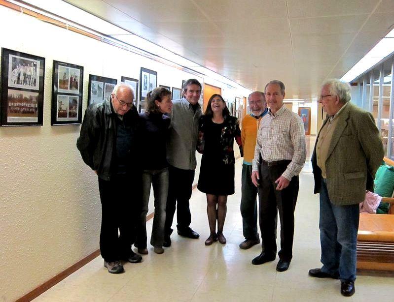 Armand Alvarez i Pere Suñer dos artífex del resurgiment de la Secció de l'Atletisme de la dècada dels anys 70's i 80's. Aquí els veiem durant la vista del Memorial d'Atletisme que es exposar a la Sala del Casal Cívic de l'Ajuntament al C/ Reina Amalia a l'any 2010.