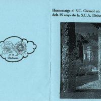 Programe del 15º aniversari de la comparsa Disbauxa,2008