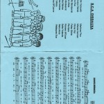 Programa de celebració en el 15º aniversari de la comparsa Disbauxa, amb la relació de la comparsa i el seu imne 2008.