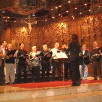 En la celebració del15º aniversari de la comparsa, vam convidar a la coral Girasol a cantar a la Basilica de Nostra Senyora de Montserrat. Per ells va ser la primera vegada, en la que vam tenir una experiència inolvidable.2008