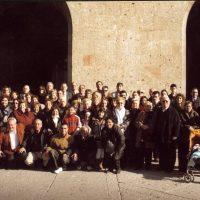 Al sortir de la Basilica, tots els participans de la celebració del 15è aniversari.