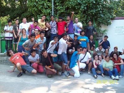 Foto de grup a la Barbacoa Halal