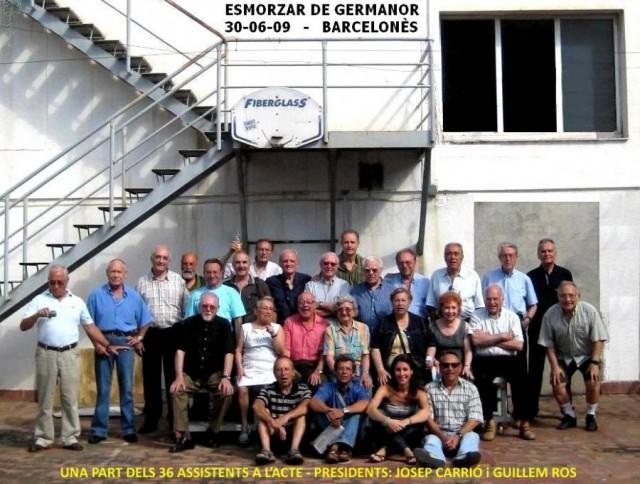 Trobada d'antics socis a la Terrassa del CGB al juny de 2009.
