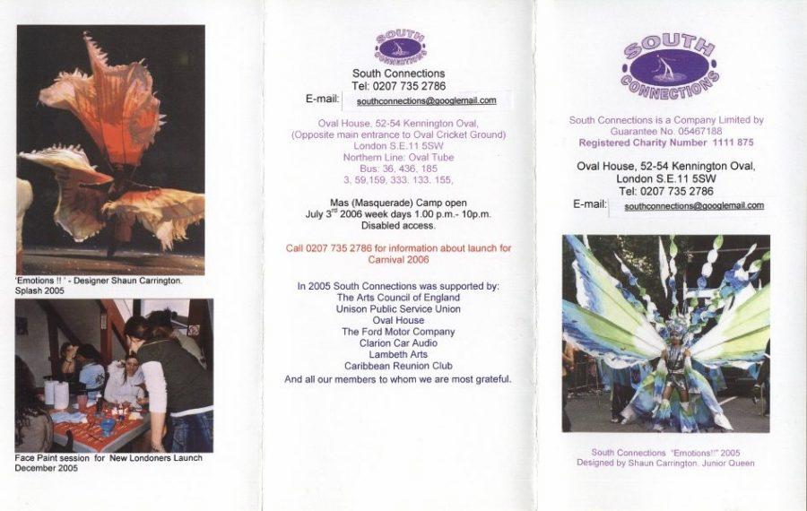 Programa de la comparsa South Conections 2004